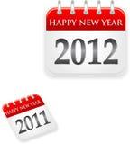 Calendrier 2012 et 2012 ans Photo stock