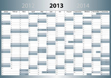 Calendrier 2013, allemand, Vacarme-Format illustration libre de droits