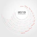 Calendrier 2013 de remous Photographie stock