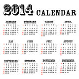 calendrier 2014 Photographie stock