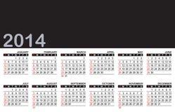 Calendrier 2014 illustration libre de droits