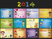 Calendrier 2014 illustration de vecteur