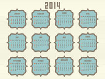 calendrier 2014 Images stock