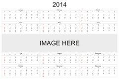 Calendrier 2014 Photos stock