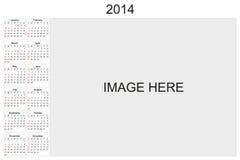 Calendrier 2014 Photographie stock libre de droits