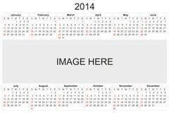 Calendrier 2014 Image libre de droits