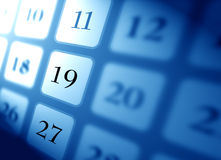 calendrier Photo stock