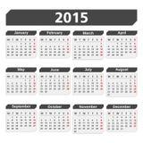 Calendrier 2015 Photo libre de droits