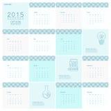 Calendrier 2015 Photos stock