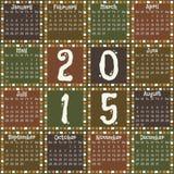 Calendrier 2015 Image libre de droits