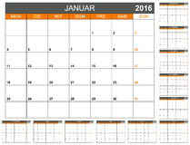 Calendrier 2016 Photo stock