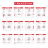 Calendrier 2016 Photos stock