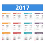 calendrier 2017 Photos stock