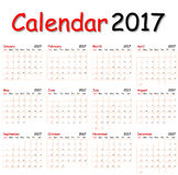 Calendrier 2017 images stock