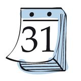 calendrier illustration stock