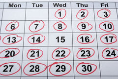 calendrier Images stock