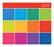 calendrier 2018 Images stock