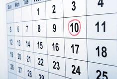 calendrier Photos libres de droits