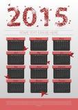 Calendrier abstrait d'origami 2015 ans calibre de bannière Vecteur Photo stock