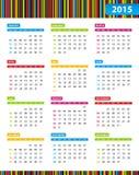 Calendrier annuel pendant 2013 années Photos libres de droits