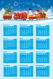 Calendrier 2018 avec Santa Claus Photos stock