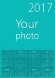 calendrier 2017 avec votre fond Photographie stock libre de droits