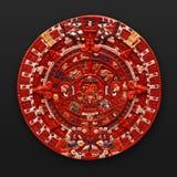 Calendrier aztèque en pierre Amérique latine Images stock