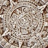 Calendrier aztèque, pierre du soleil Image libre de droits