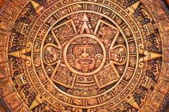 Calendrier aztèque Photo libre de droits
