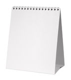 Calendrier blanc Photographie stock