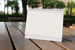 Calendrier blanc Photos stock