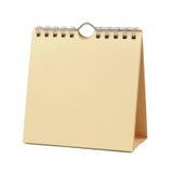 calendrier blanc Photo stock