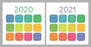Calendrier 2020, 2021 Calibre Carré De Conception De Calendrier De