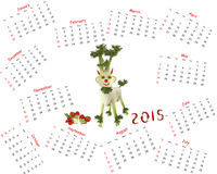 Calendrier 2015 Chèvre faite de légumes Photographie stock