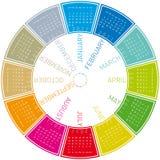 Calendrier circulaire coloré 2011 Images libres de droits
