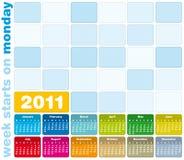 Calendrier coloré 2011 Photographie stock