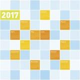 Calendrier coloré pendant l'année 2017 Photographie stock libre de droits
