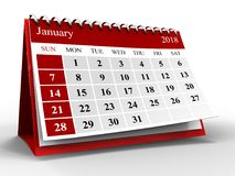 CALENDRIER 3D Images stock