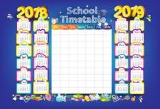 2018-2019 calendrier d'an illustration de vecteur