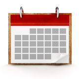 CALENDRIER 3D Photo stock