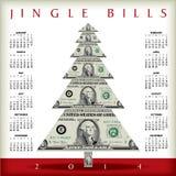 calendrier 2014 d'argent Images libres de droits