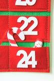 Calendrier d'avènement de tissu Images stock