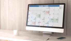 calendrier d'ordinateur de bureau Photographie stock