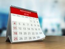 calendrier 3d sur la table Images stock