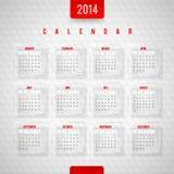 Calendrier de 2014 Photographie stock libre de droits