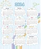 calendrier de 2014 ans Photographie stock