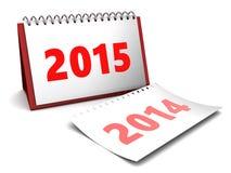 calendrier de 2015 ans Photographie stock
