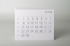 calendrier de 2015 ans juin Photos stock