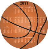 Calendrier de basket-ball Photos libres de droits