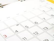 Calendrier de bureau avec des jours et des dates en juillet 2016 Images libres de droits